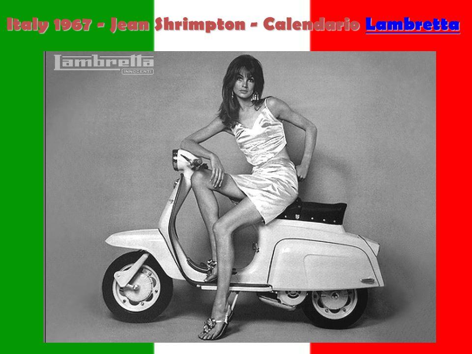 Italy 1967 - Jean Shrimpton - Calendario Lambretta Lambretta