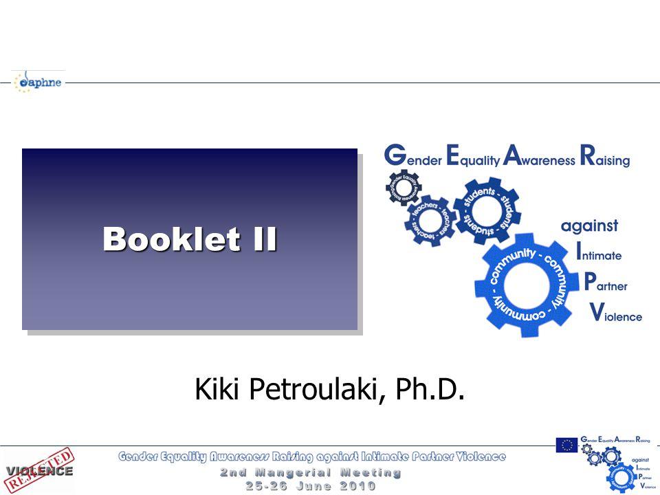 Booklet II Kiki Petroulaki, Ph.D.