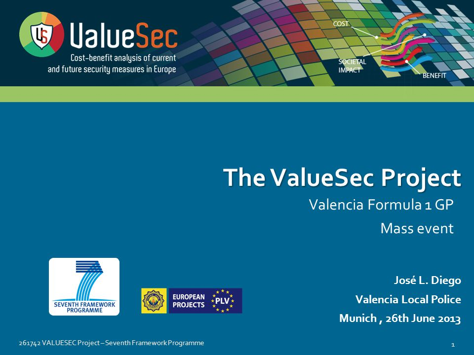 261742 VALUESEC Project – Seventh Framework Programme 1 José L.