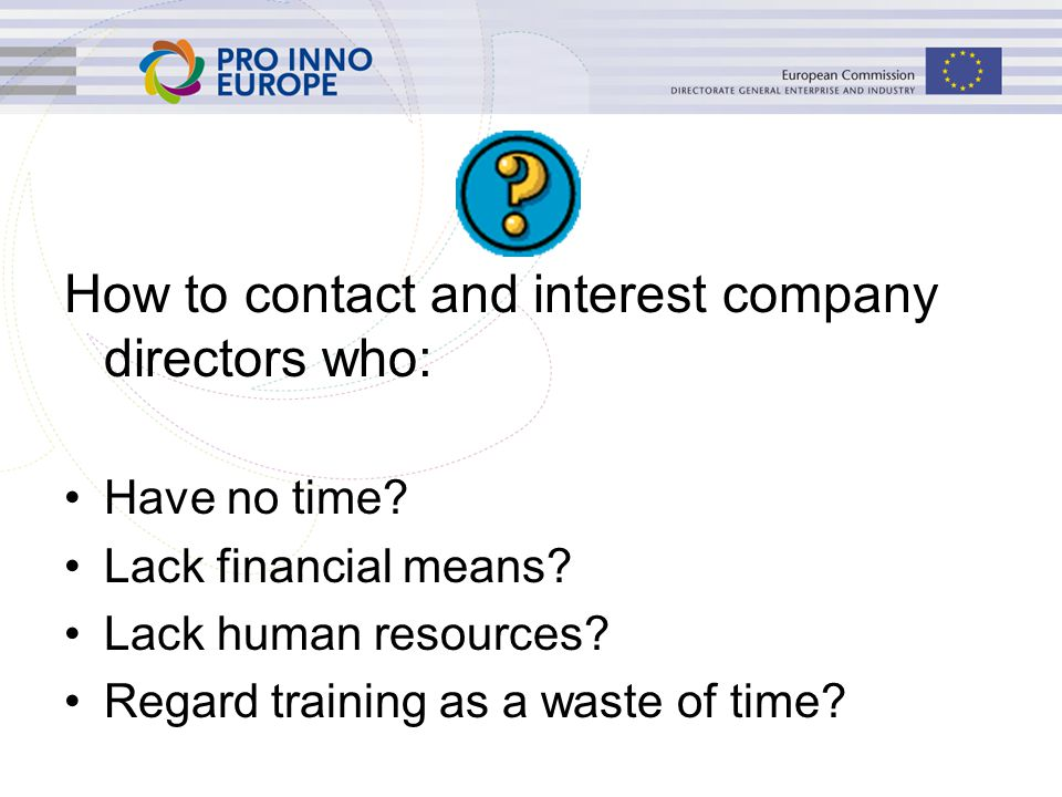 How to contact and interest company directors who: Have no time.