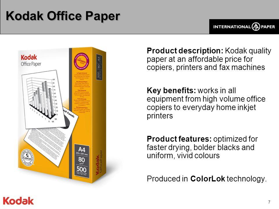 8 Application/classification GOODBETTERBESTSPECIALTY Multipurpose Inkjet