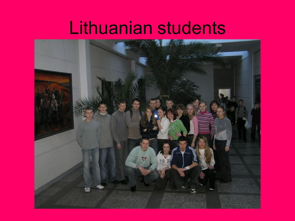 Lithuanian students