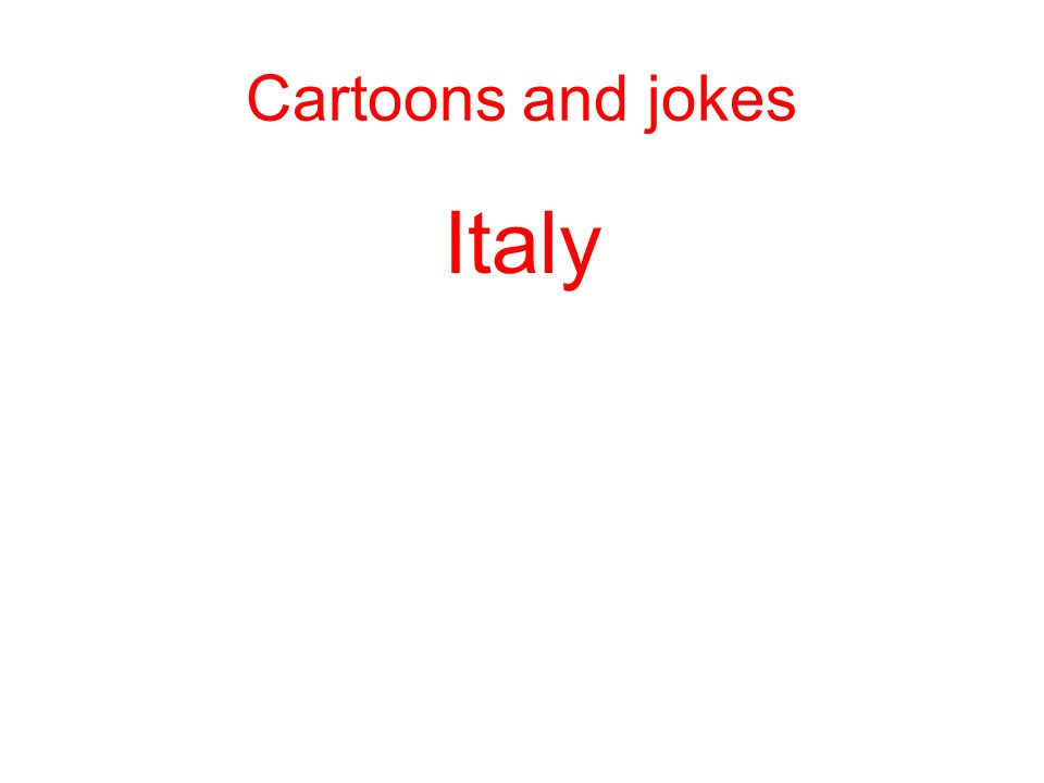 Italy Cartoons and jokes
