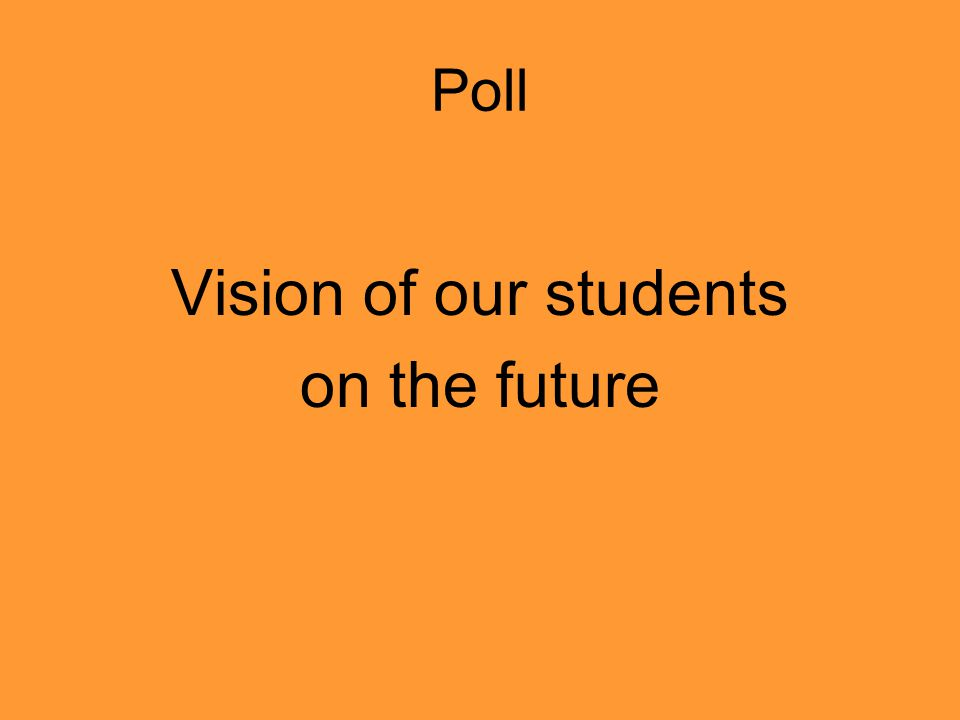 Poll Vision of our students on the future