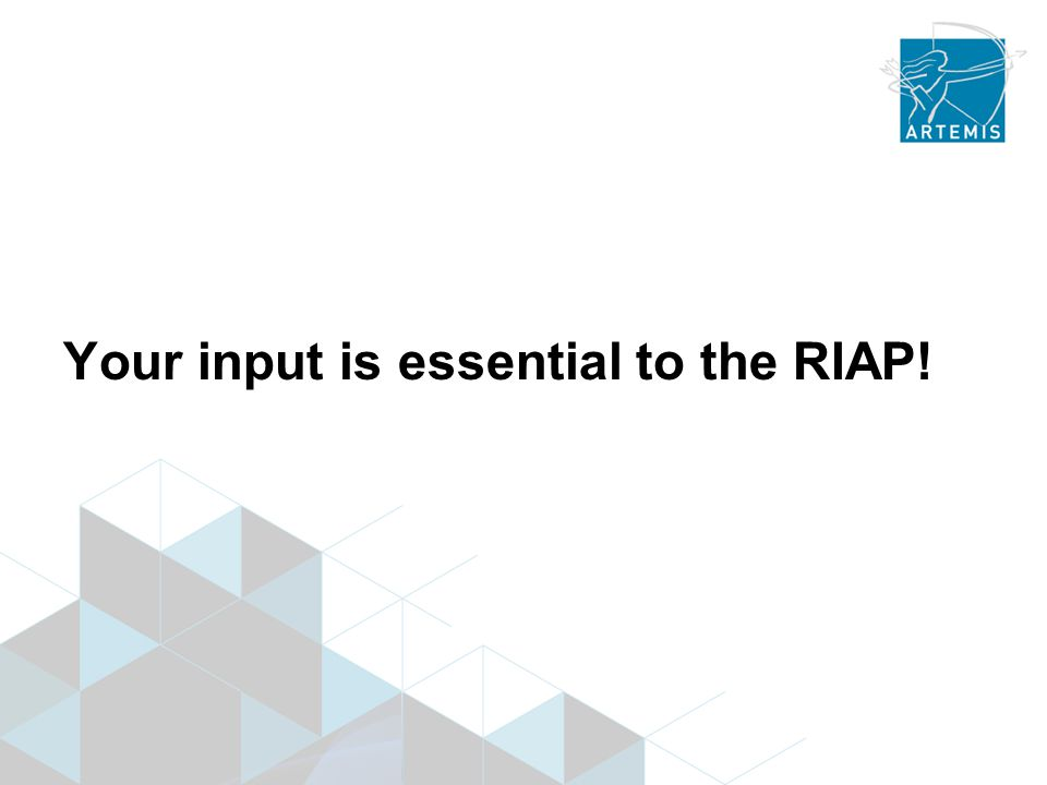 Your input is essential to the RIAP!