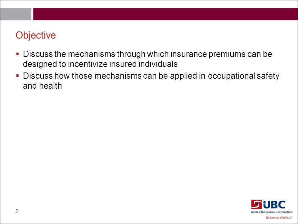 Outline  Insurance basics  Range of insurance systems  Insurance and moral hazard behavior  How are insurance premiums determined in the presence of moral hazard  Key issues for occupational health and safety systems 3