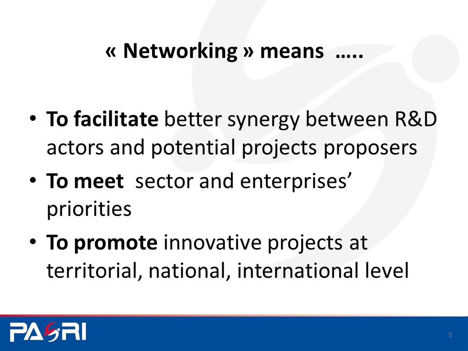 « Networking » means …..