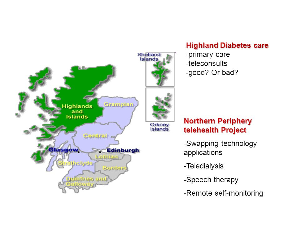 Highland Diabetes care -primary care -teleconsults -good.