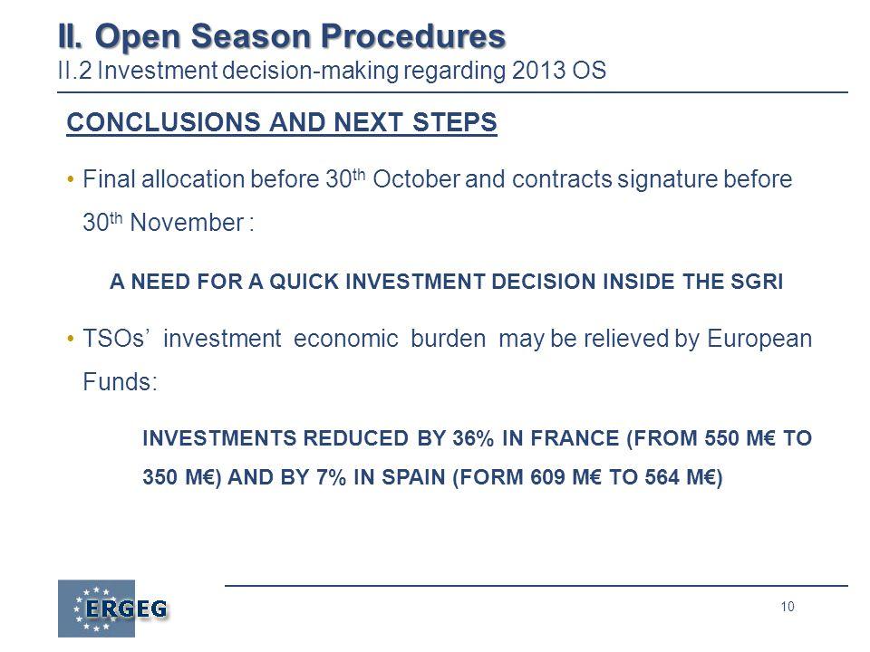 10 II. Open Season Procedures II.