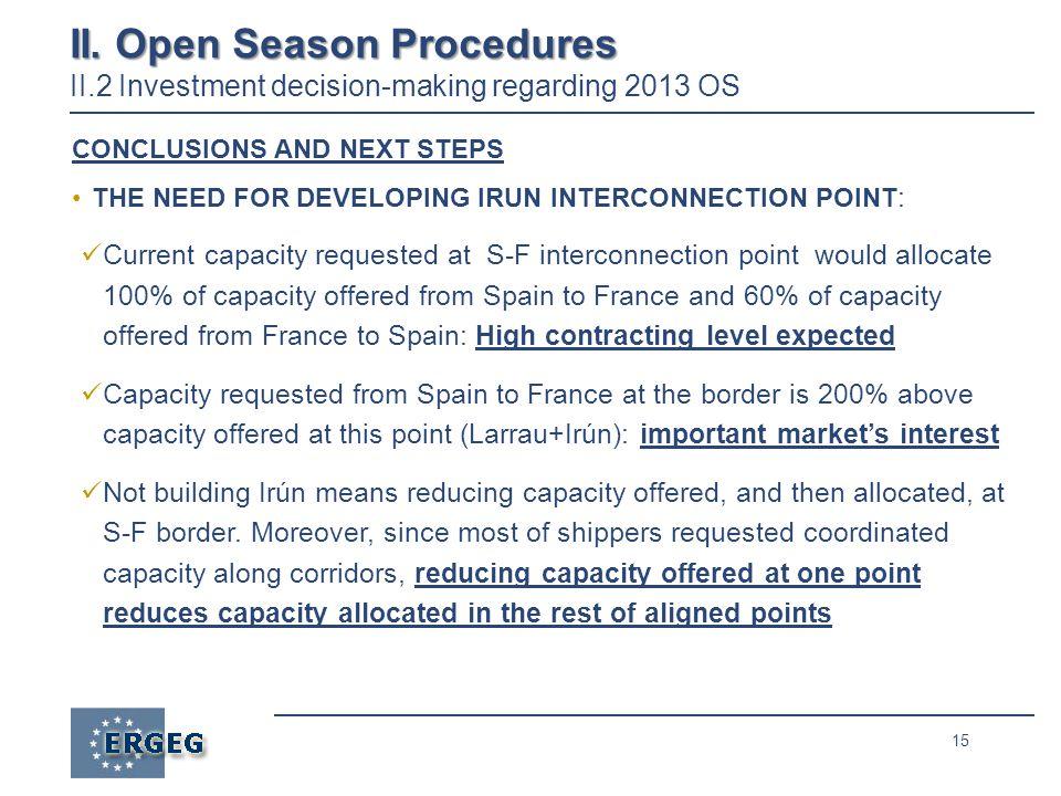 15 II. Open Season Procedures II.