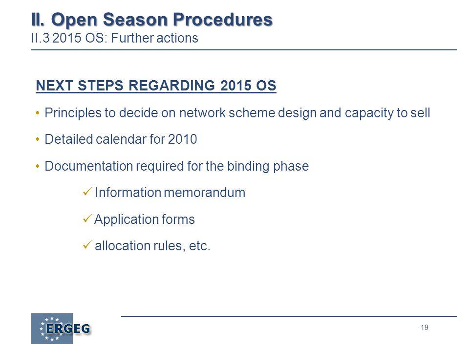 19 II. Open Season Procedures II.