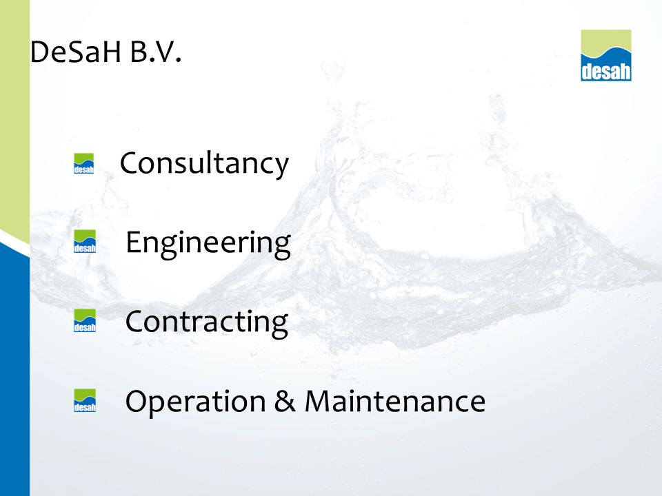 Consultancy Engineering Contracting Operation & Maintenance