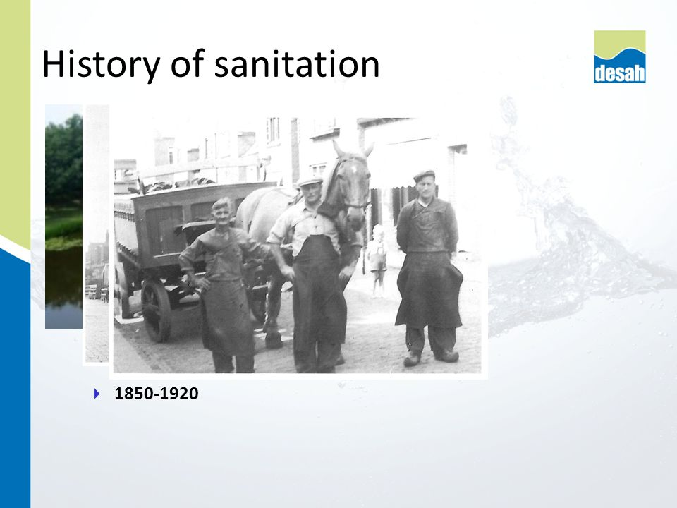  1850-1920 History of sanitation