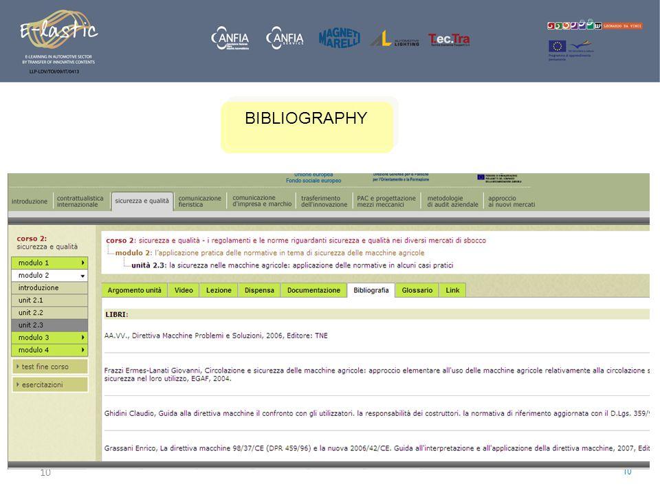 10 BIBLIOGRAPHY