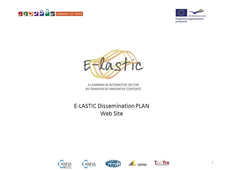E-LASTIC Dissemination PLAN Web Site 1