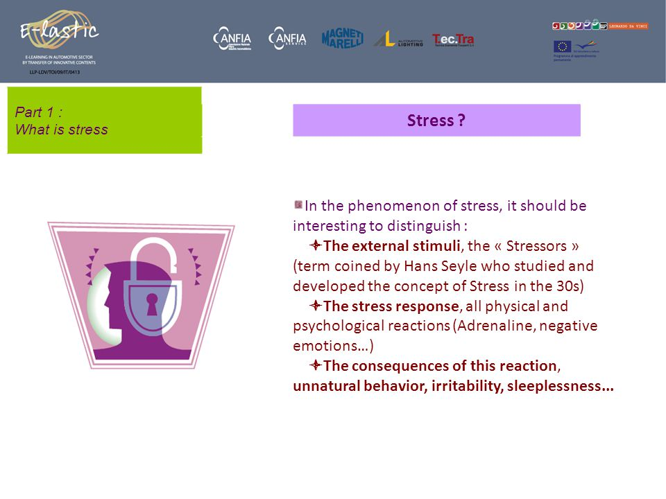 Part 3: Act on stress Strategies for dealing with stress Strategies focused on problem solving  Dealing with the « stressor», modify, reduce...