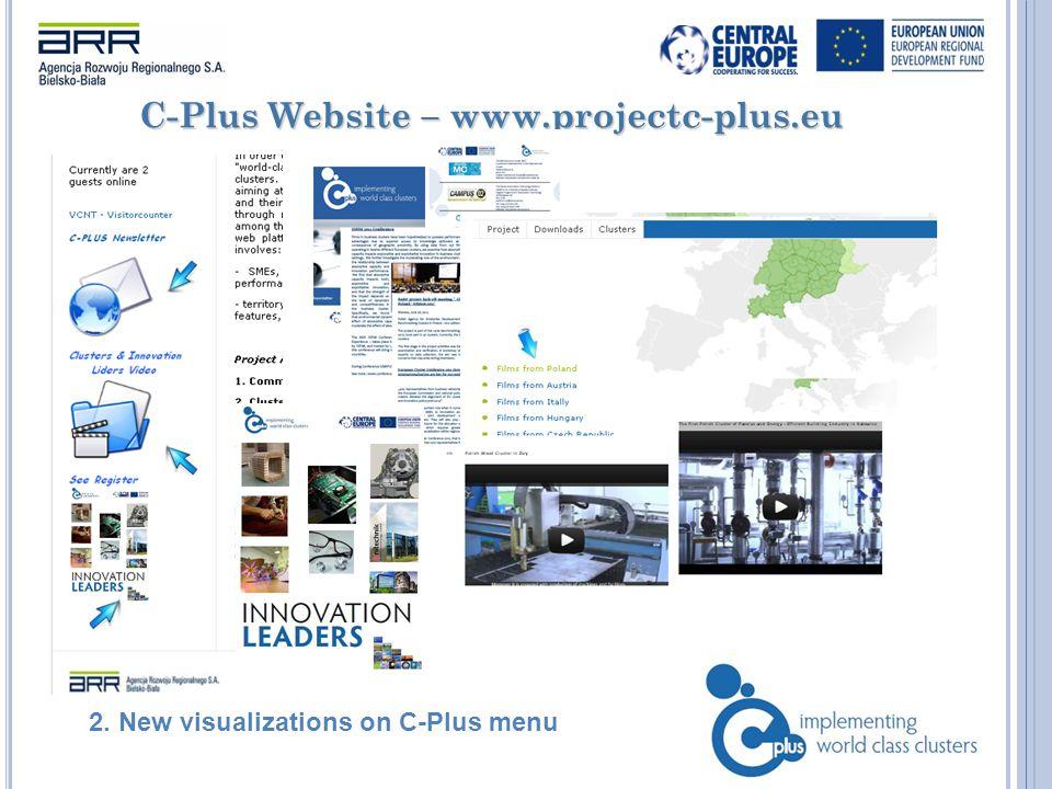 C-Plus Website – www.projectc-plus.eu 2. New visualizations on C-Plus menu