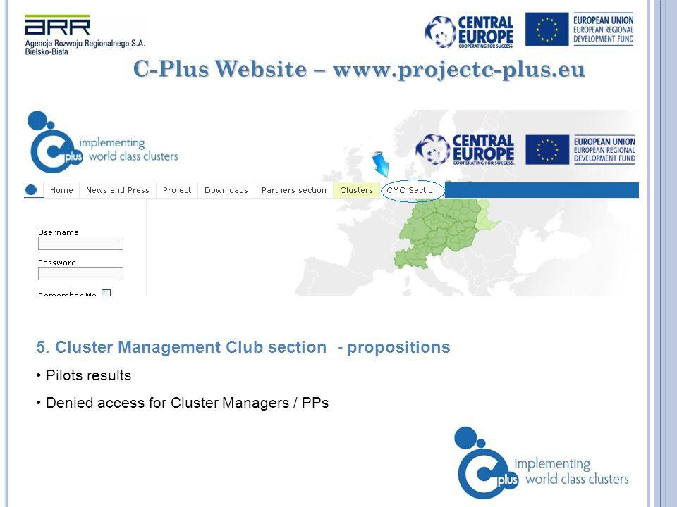C-Plus Website – www.projectc-plus.eu 5.