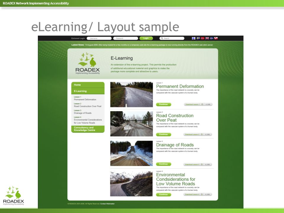 eLearning/ Layout sample