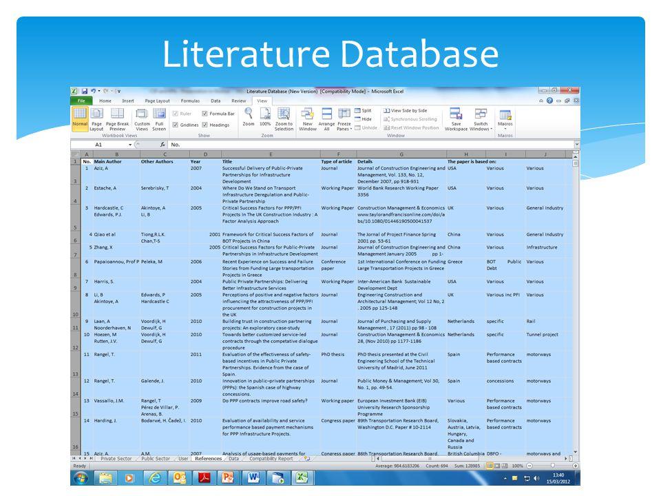 Literature Database