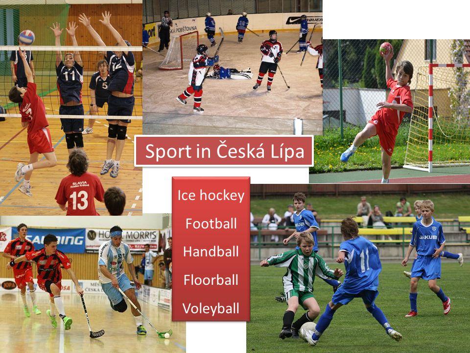 Sport in Česká Lípa Ice hockey Football Handball Floorball Voleyball Ice hockey Football Handball Floorball Voleyball
