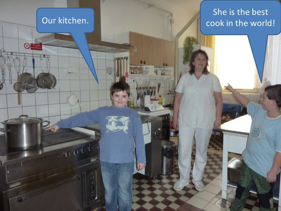 Our kitchen. She is the best cook in the world!