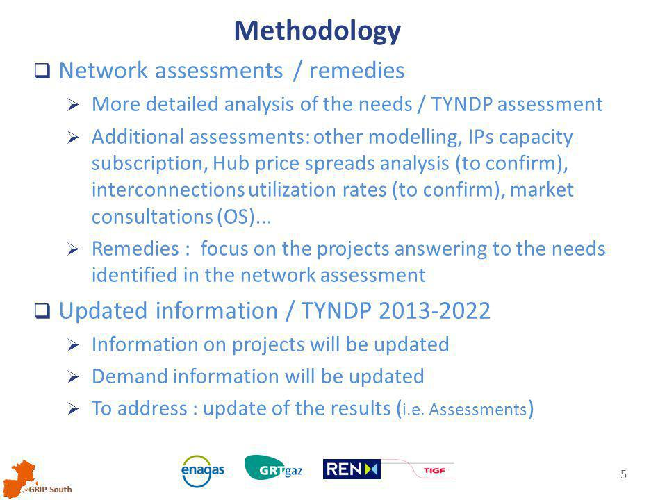 GRIP South 5  Network assessments / remedies  More detailed analysis of the needs / TYNDP assessment  Additional assessments: other modelling, IPs