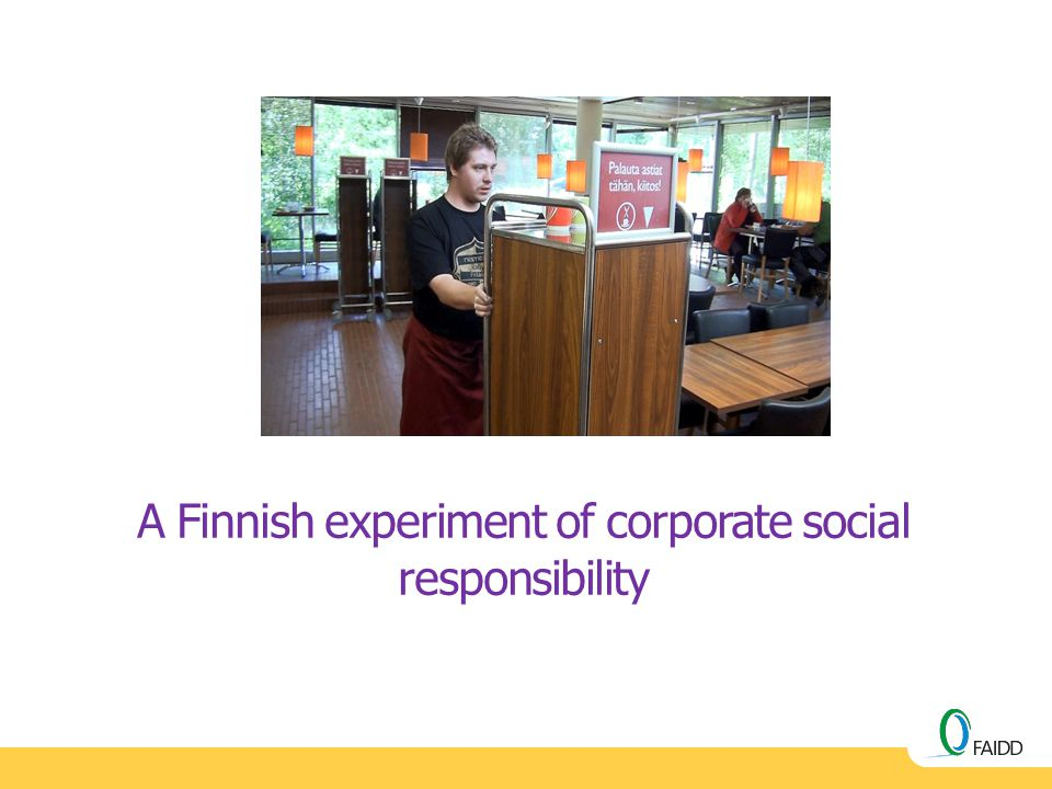 A Finnish experiment of corporate social responsibility