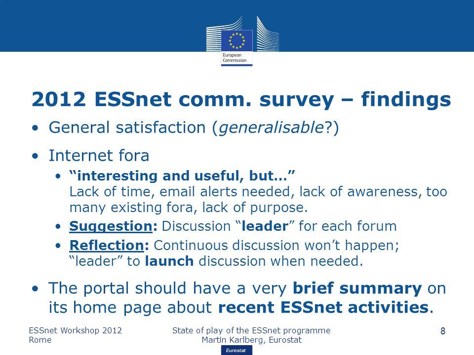 Eurostat 2012 ESSnet comm.