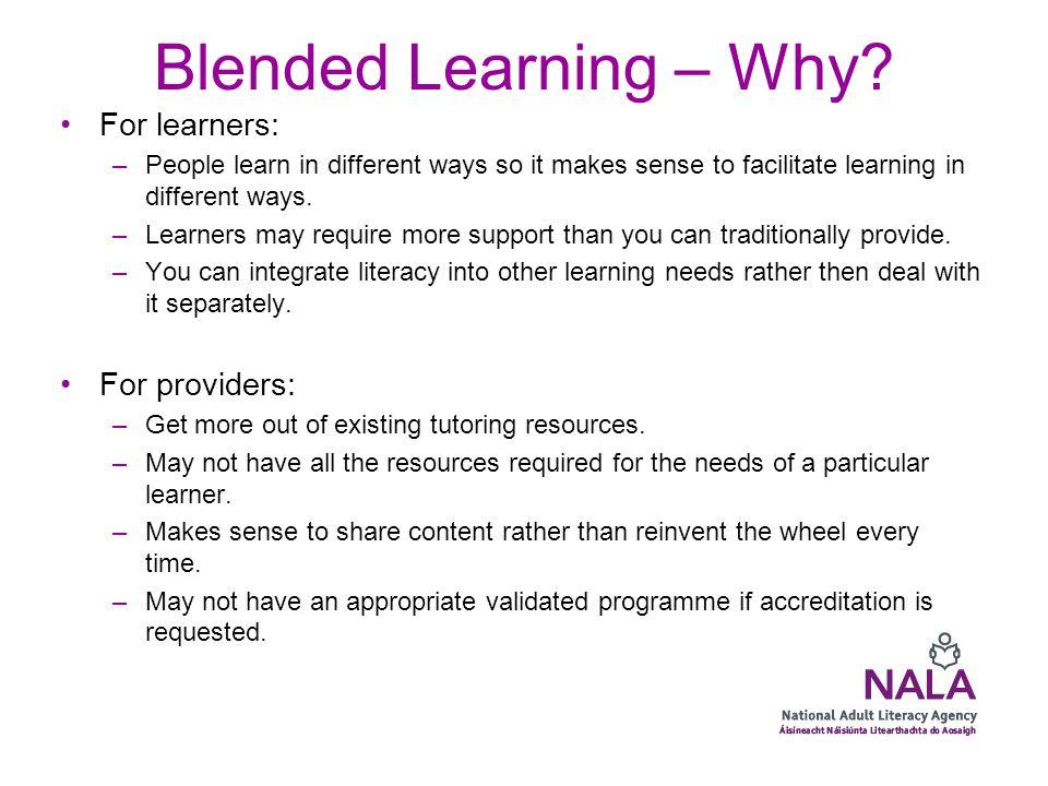 Blended Learning – how