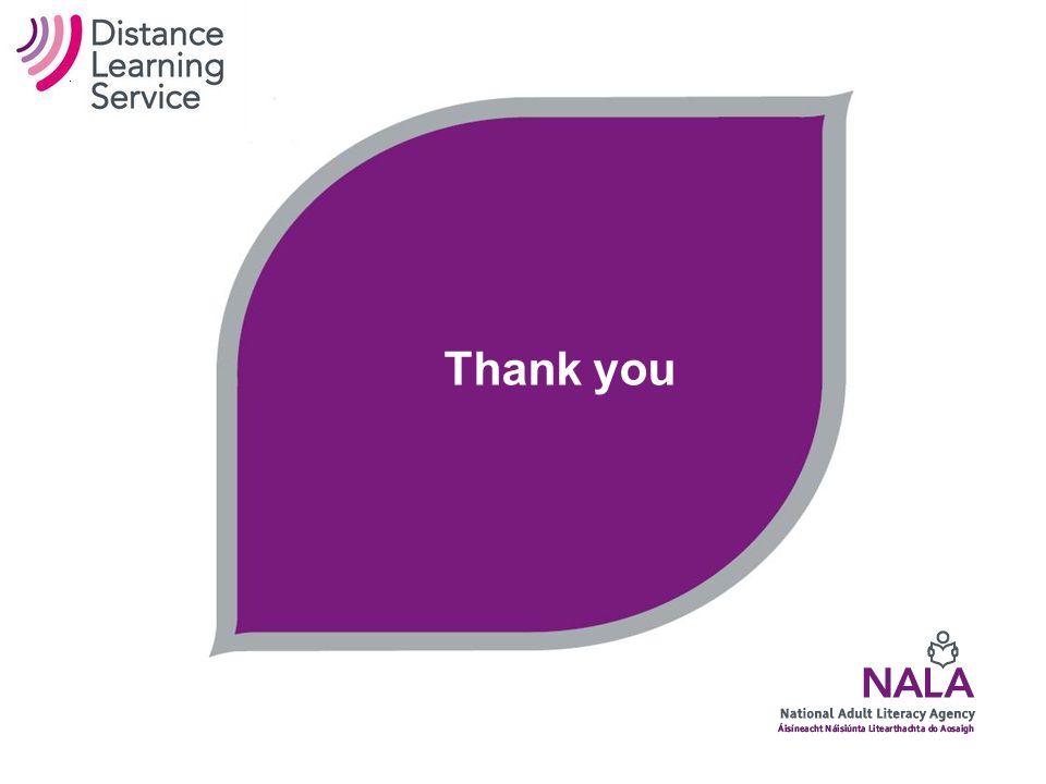 National Adult Literacy Agency Tom O'Mara Distance Learning Co-ordinator NALA 21 Lavitt's Quay Cork Tel: (021) 4278669 (086) 0410440 Skype: nala_tom Email: tomara@nala.ietomara@nala.ie