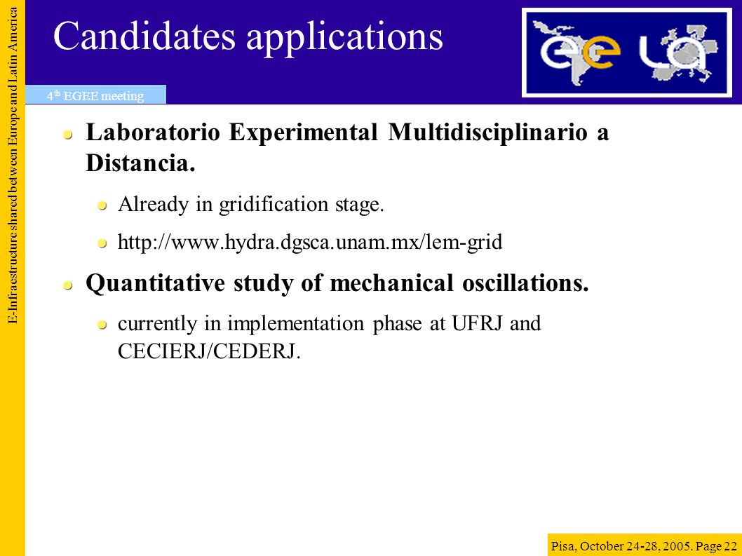 Candidates applications Laboratorio Experimental Multidisciplinario a Distancia.