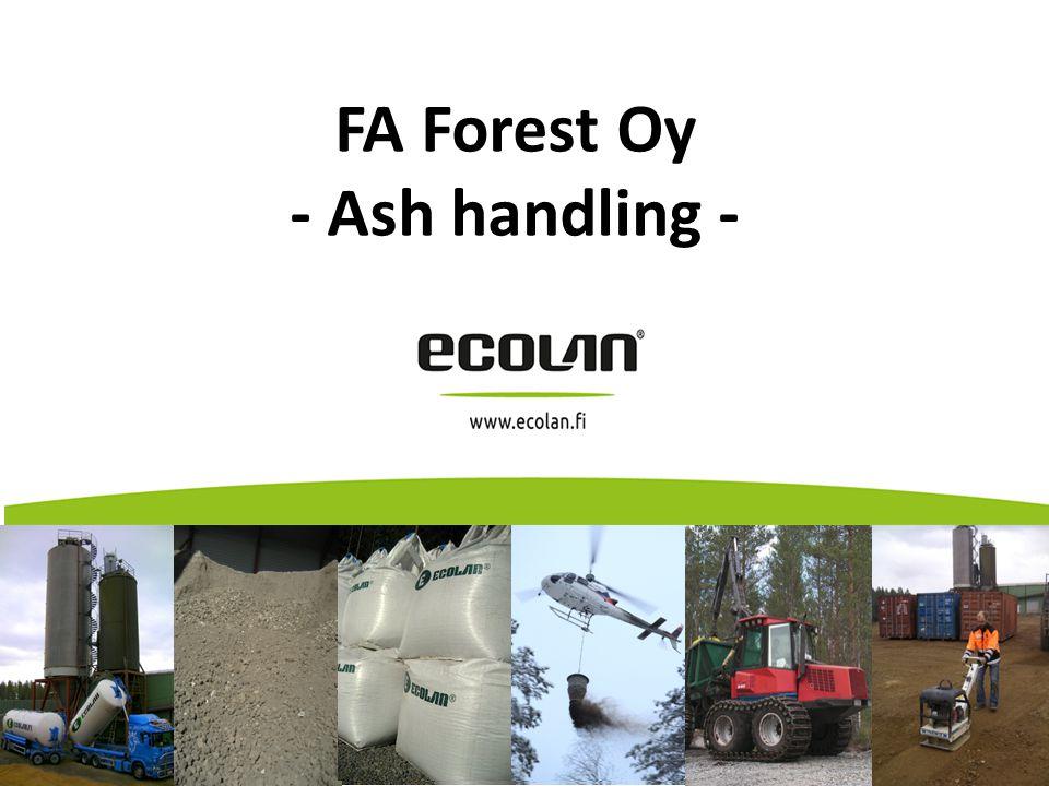FA Forest Oy - Ash handling - FA Forest Oy (2012)