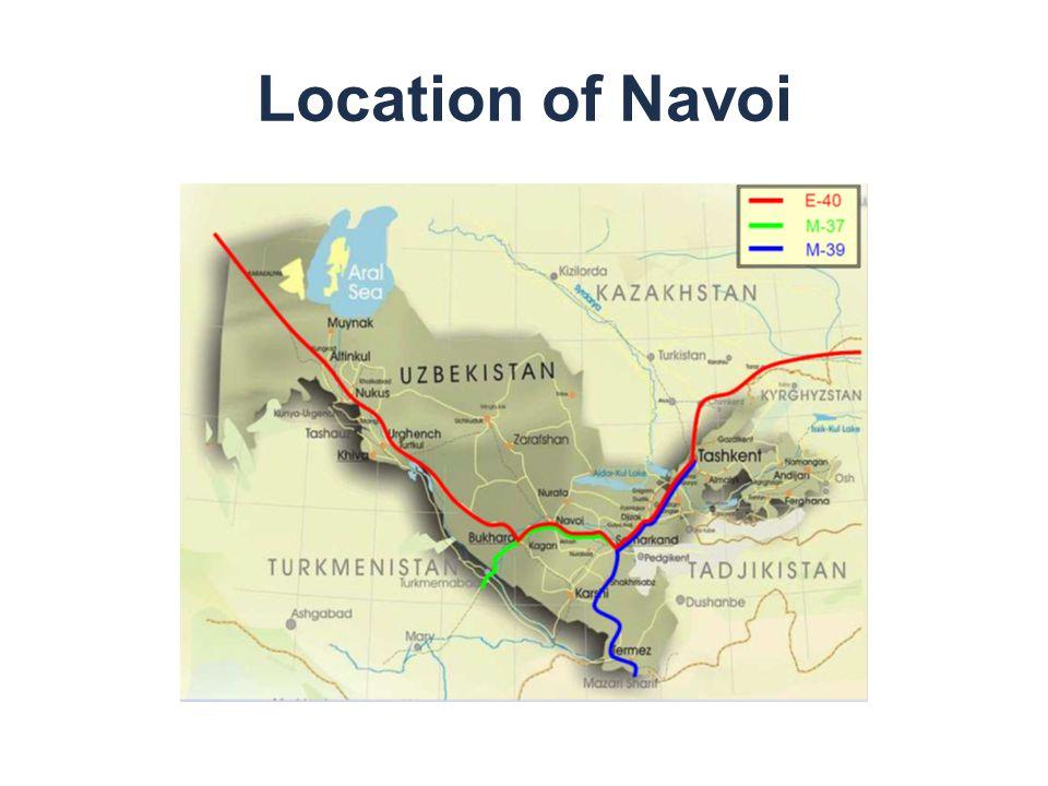 Location of Navoi