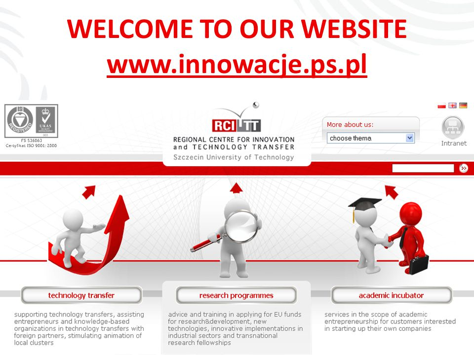 WELCOME TO OUR WEBSITE www.innowacje.ps.pl