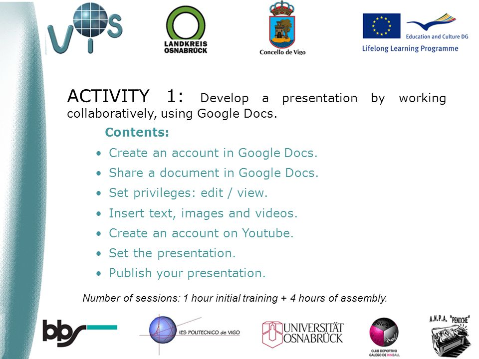 Contents: Create an account in Google Docs. Share a document in Google Docs.