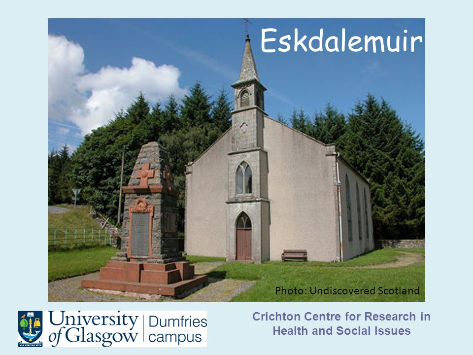 Crichton Centre for Research in Health and Social Issues Eskdalemuir Photo: Undiscovered Scotland