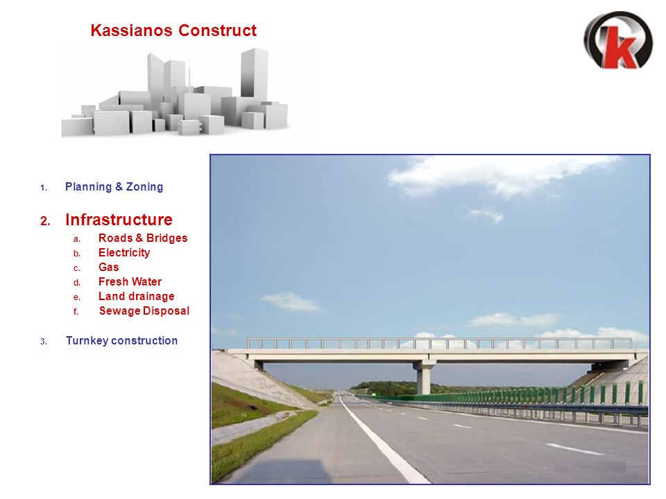 1.Planning & Zoning 2. Infrastructure a. Roads & Bridges b.