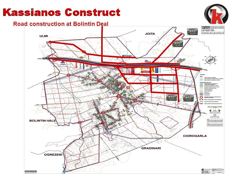 Road construction at Bolintin Deal