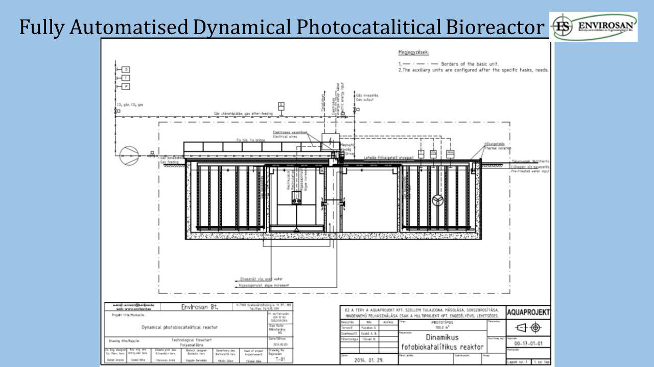Fully Automatised Dynamical Photocatalitical Bioreactor