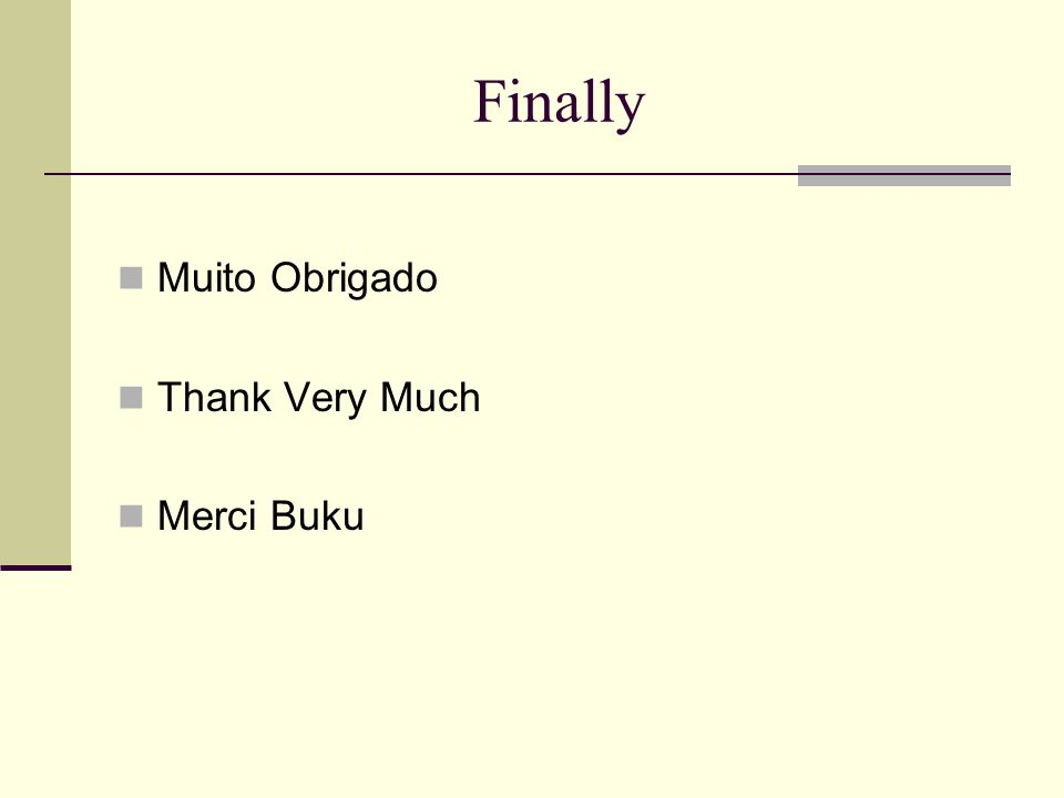 Finally Muito Obrigado Thank Very Much Merci Buku