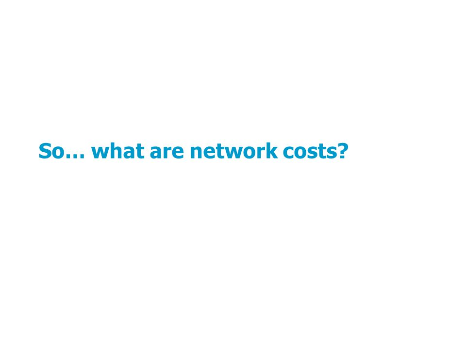 So… what are network costs?