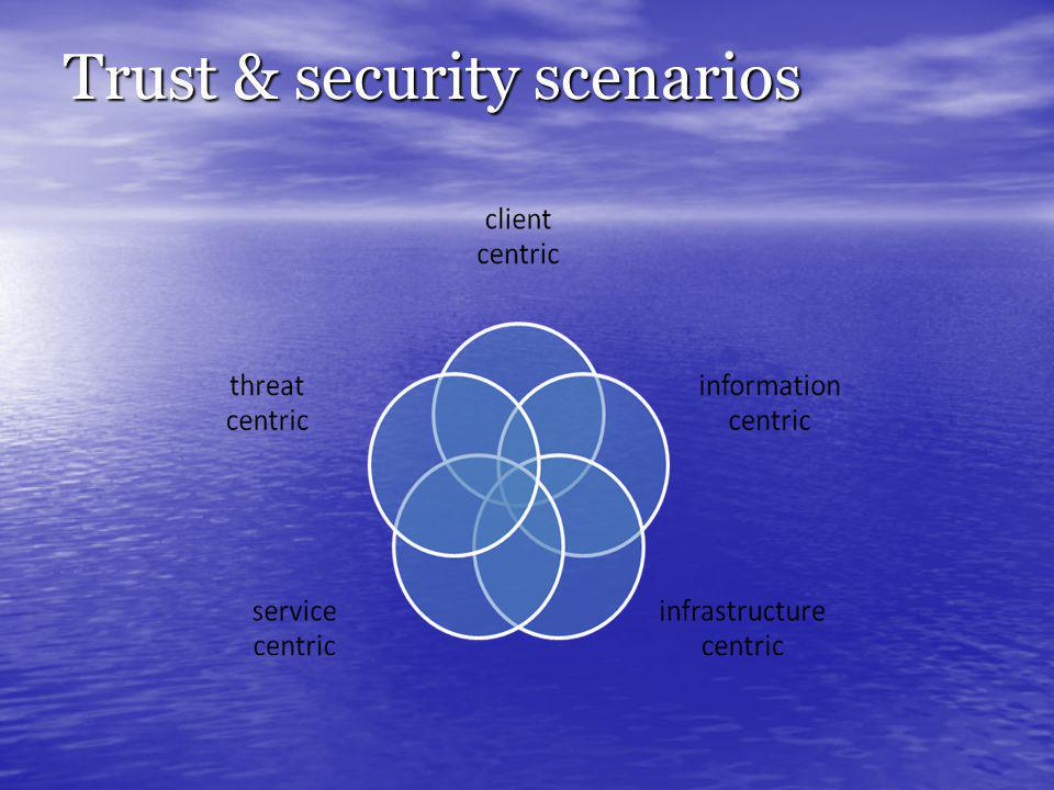 Trust & security scenarios