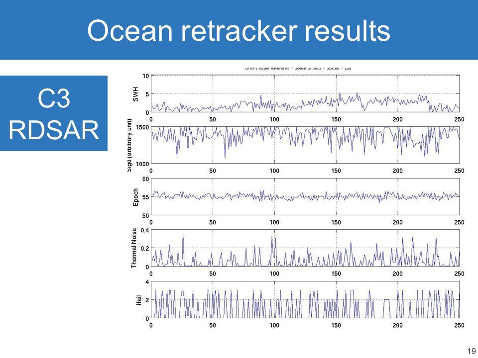 19 Ocean retracker results C3 RDSAR