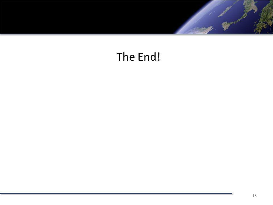 The End! 15