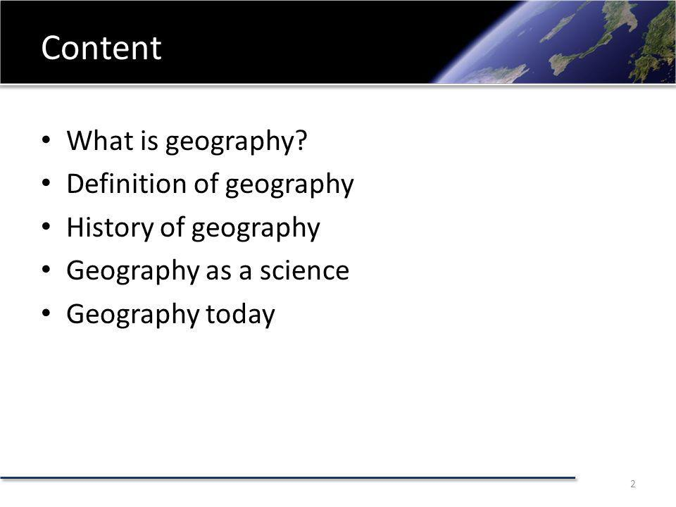 What is geography.