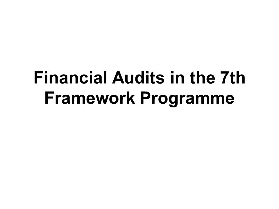 Methods for the control of grants EX-ANTE CONTROLS EX-POST CONTROLS Previous to the submission of Form C After the submission of Form C CERTIFICATES ON THE FINANCIAL STATEMENTS CERTIFICATES ON THE METHODOLOGY EC AUDITS