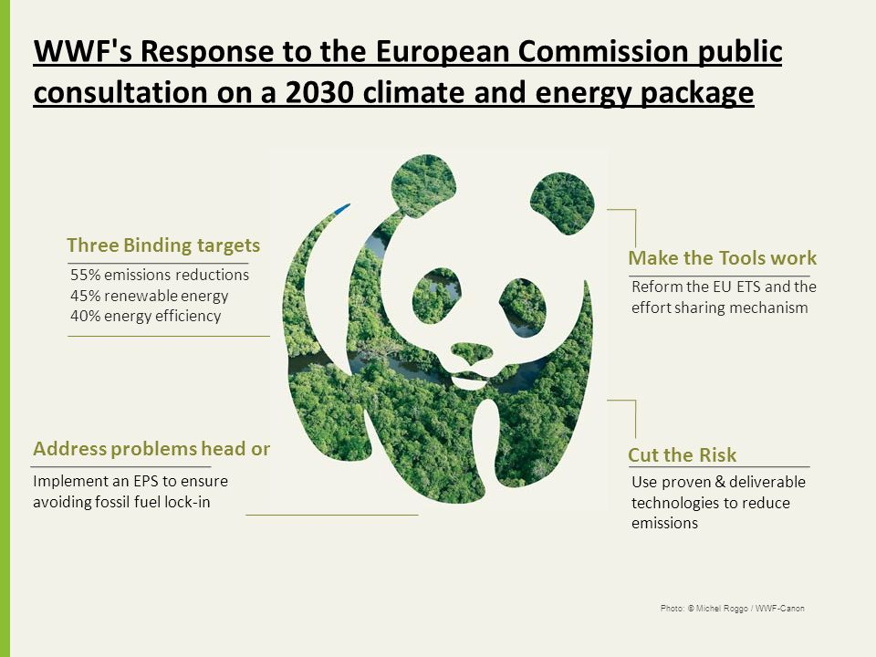 55% emissions reductions 45% renewable energy 40% energy efficiency Three Binding targets Implement an EPS to ensure avoiding fossil fuel lock-in Addr