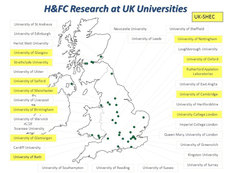 UK-SHEC H&FC Research at UK Universities