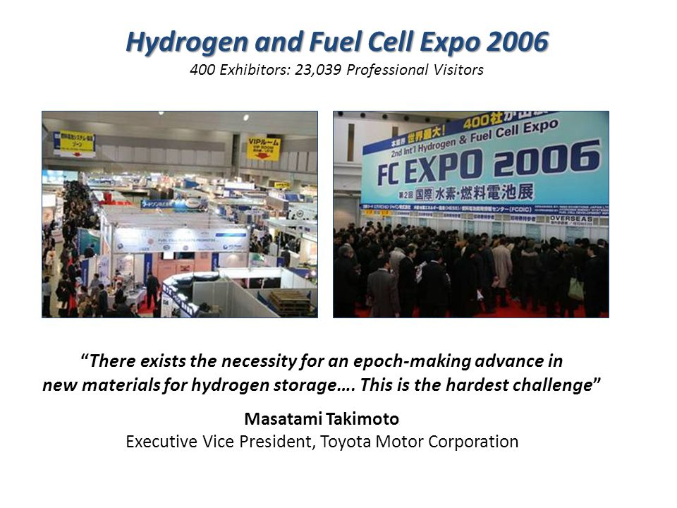 There exists the necessity for an epoch-making advance in new materials for hydrogen storage….
